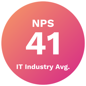 IT industry average NPS
