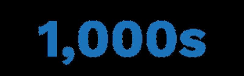 1000s of tech companies